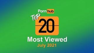 2021 年 7 月观看次数最多的视频 Pornhub 模特计划