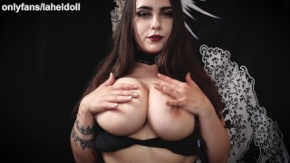 asmr pov big titty goth girl ties you up and makes tits and ass in your face