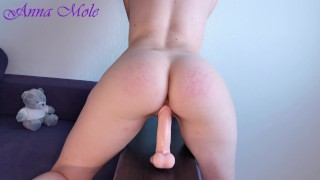 Girl with big booty rides a Didlo and dreaming of hot sex Morning orgasm Anna Mole