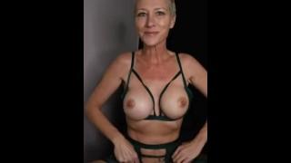 Kiki Deez Cums 3x In Green Lingerie
