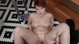 SHAME4K Hot BBW forgets about age when approached by her friends son