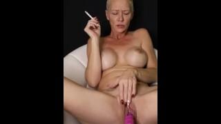 Kiki Deez Smoking While Using My Sex Machine