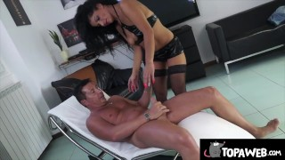 Lisa Stella squirts on Perre DJ's cock