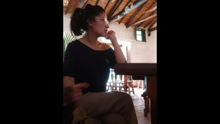 When caught... act like nothing ever happened - LufaVingt guys real caught in public restaurant.