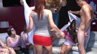 DANCING BEAR - Dick Slinging Studs At CFNM Party Taking Place Somewhere Other Than Your Mom's House!