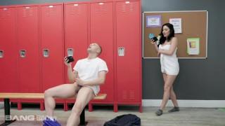 Trickery Beautiful Jasmine Vega Fucks Her Spy In The Locker Room