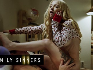 Family Sinners - Two Naughty Step Siblings Kenzie Reeves And Nathan Bronson Cum Together