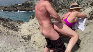 Horny beach day turns to fuck fest at home