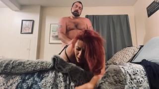 Husband ass fucks neighbor while wife is away