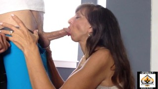 Sexy Granny Gives A Wonderful Blowjob