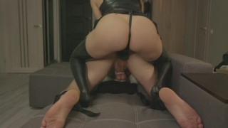 BDSM Strapon femdom mistress story with dirty talk How he become my dirty bitch Episode 1 Inception