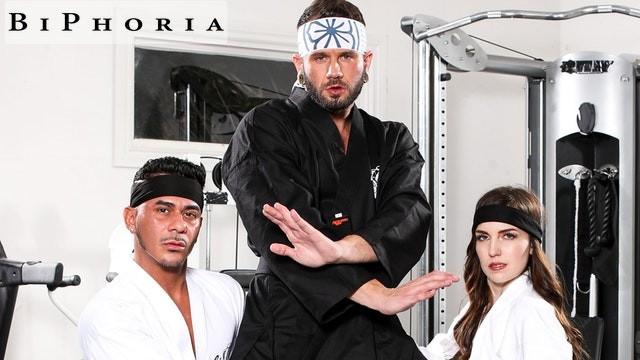 BiPhoria - Karate Master Trains Students In Cobra Bi