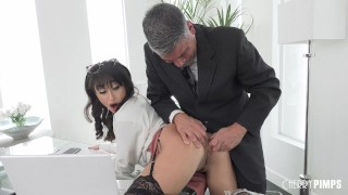 Anal Hardcore At the Office For Petite Isabella Nice After She Deepthroats Her Coworker
