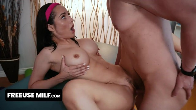 Gorgeous Big Titted Milf In Leotard Gets Free Used By Her Yoga Instructor During Exercises