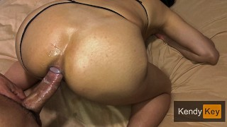 Pure white Amateur GirlFriend with Sexy Pink ASS GAPE.
