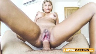 Brazilian amateur takes a gigantic cock in her asshole