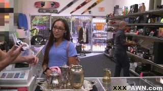 XXX PAWN Latin Essential Worker Joanna James Needs Money Fast So She Visits My Store In Search Of
