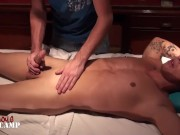 Brock gets a massage and a blowjob from Jacob