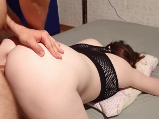 First time cum in his girlfriend's pussy