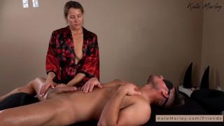Slow Sensual Handjob on a Massage Table - Kate Marley