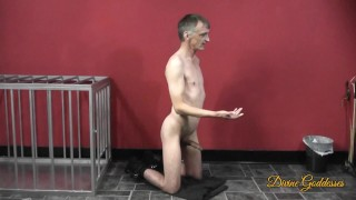 Dirty Old Man Jerks Off To Hot Domme