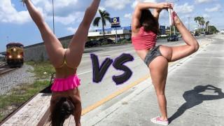 BANGBROS - Battle Of The Big Ass GOATs: Abella Danger VS Kelsi Monroe