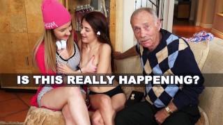 BLUE PILL MEN Arnie Berke Gets His Geriatric Mind Blown By Teens Vanessa Phoenix And Gigi Flamez