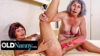 OMAHOTEL Really Old Grandma Playing With Lesbian Friend