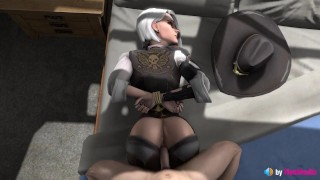 Tied Ashe Pussy Fuck (with sound) overwatch 3d animation hentai anime kink sex game blonde bdsm sfm