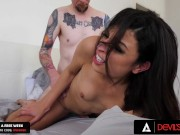 DevilsTGirls Valentina Mia Convinces Husband To Buttfuck Her Before Work