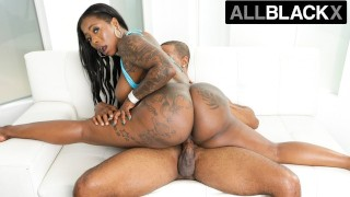 AllBlackX Ass Clapping Ebony Beauty Gets Down & Dirty