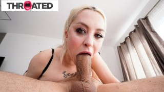 Big Tittied Blonde Russian Gets A Huge Cock To The Throat Throated